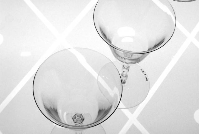 el vidrio y el cristal